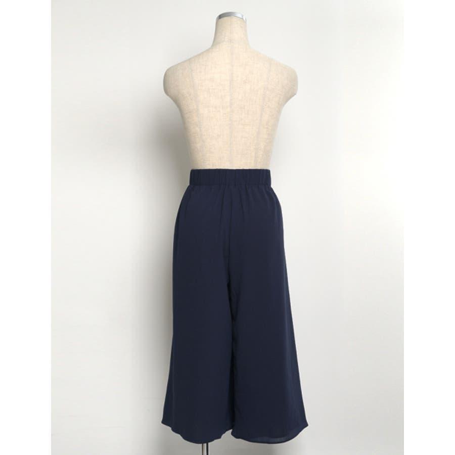 遊び心のあるデザインでトレンドライクに。 プリーツ巻きスカート風ガウチョパンツ ボトムス/パンツ/ワイドパンツ・ガウチョパンツ 9