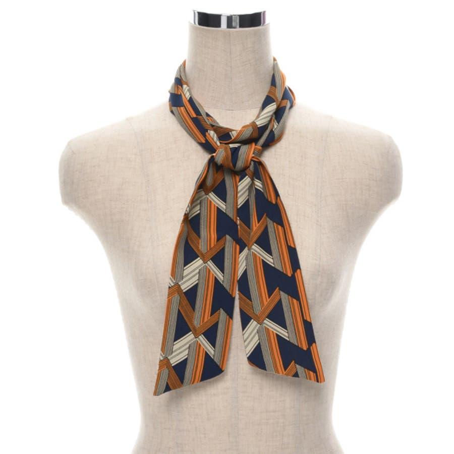 バッグや首もとのアクセントに マルチパターン柄スカーフ グッズ 6