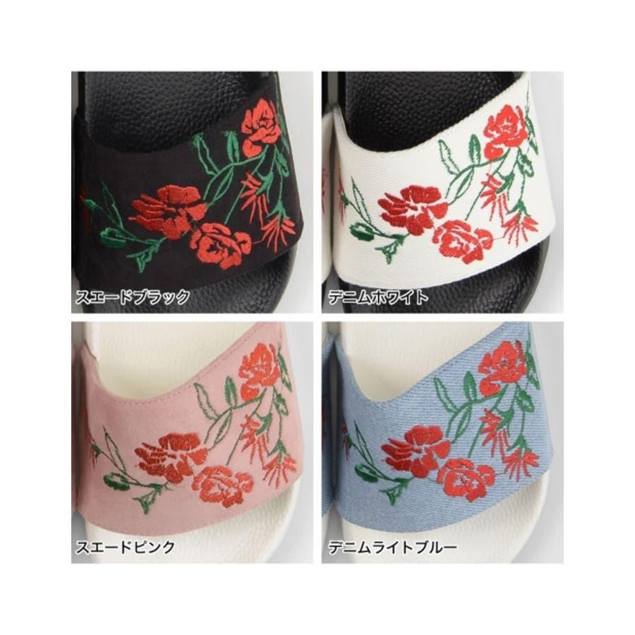 足元からトレンドを取り入れる 刺繍ワンベルトサンダル シューズ/その他シューズ 6