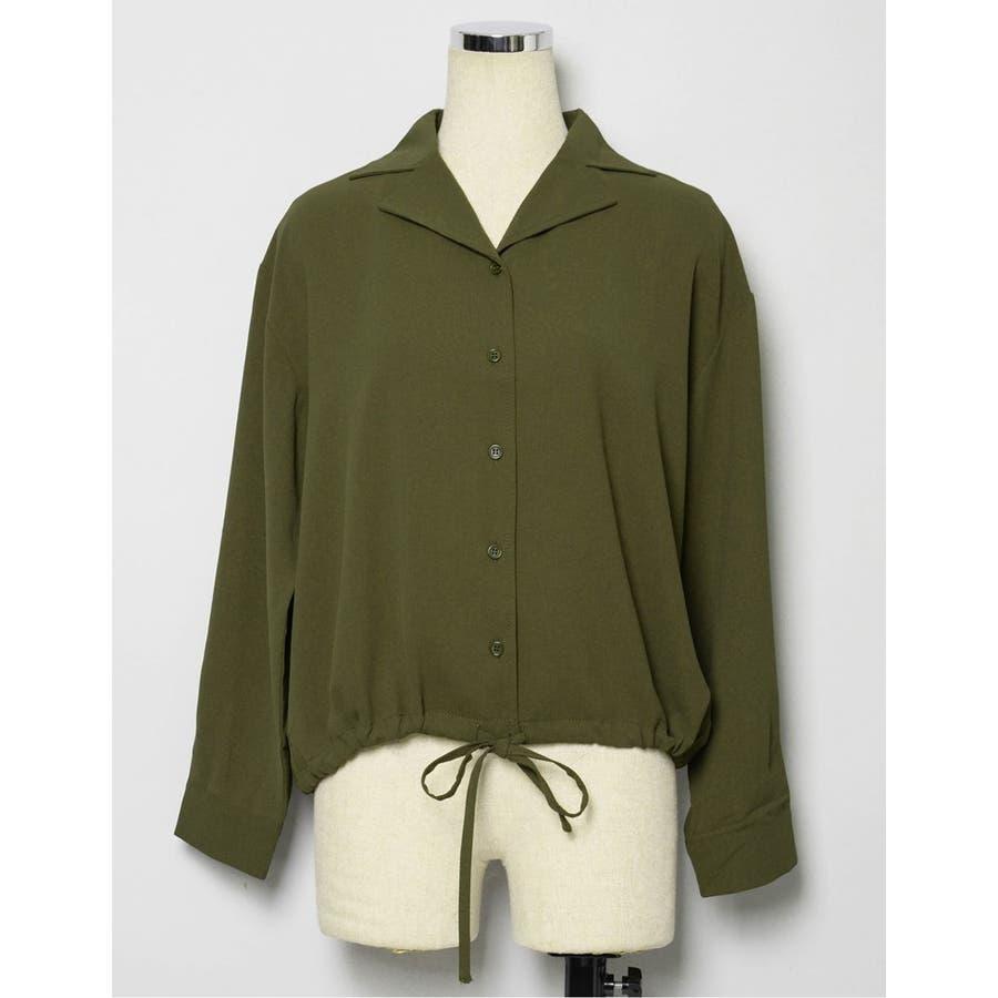 きゅっと裾を絞ってコンパクトに 裾リボンシャーリングブラウス トップス/シャツ・ブラウス 10