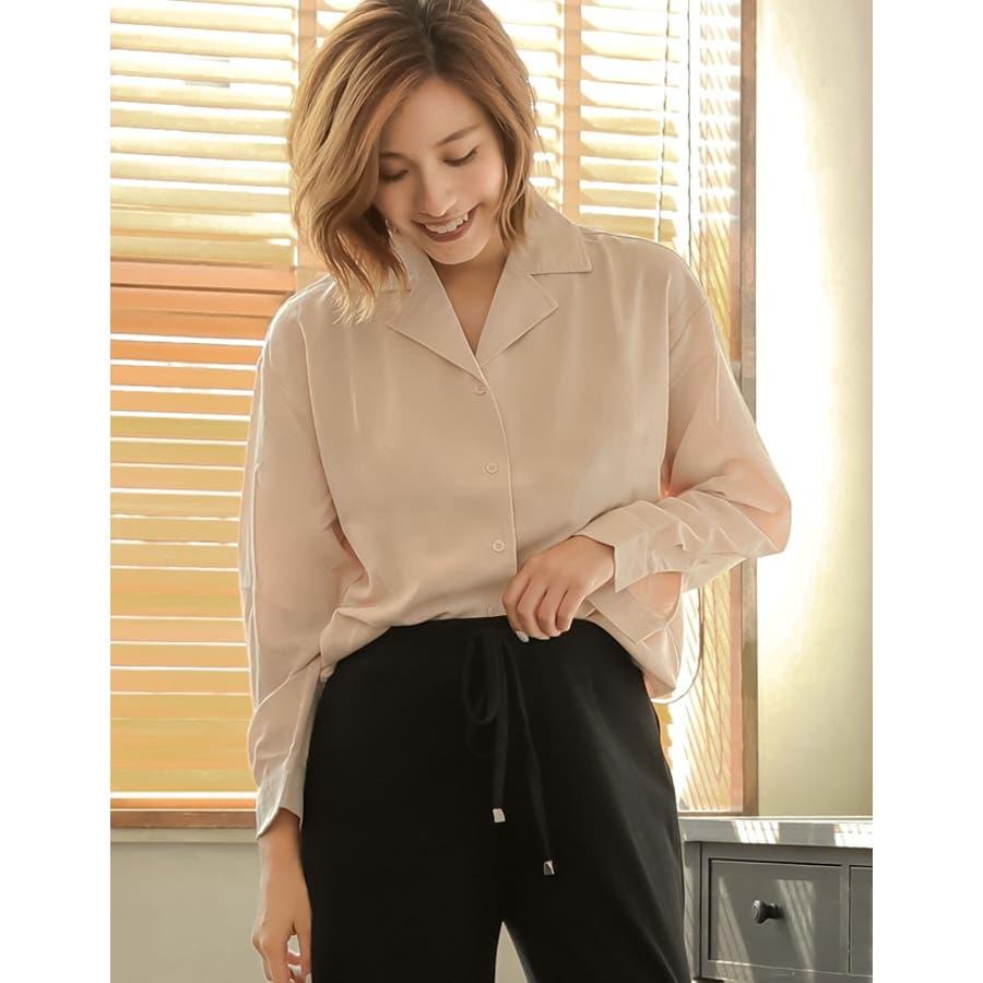 きゅっと裾を絞ってコンパクトに 裾リボンシャーリングブラウス トップス/シャツ・ブラウス 5