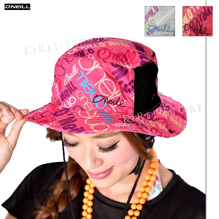 お気に入りです! O'NEILL オニール サーフハット 日よけ ビーチハット 帽子 ハット つば広 uvカット 帽子 サーフハット レディース 帽子水着 662930 2色  F 抜歯