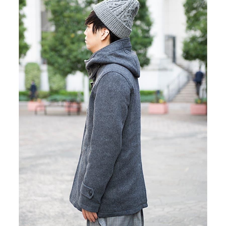 GGD GGDedition/綾ダッフルコート コート メンズ メンズファッション ショート丈 ウール 無地 ボタン留め