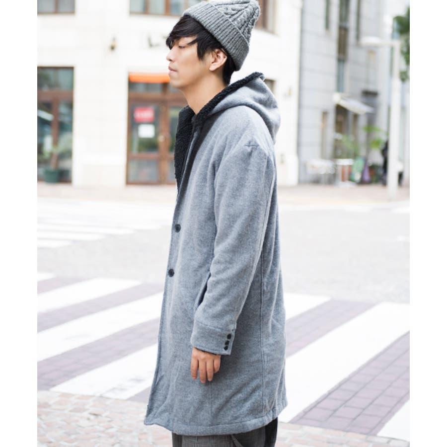 HVC HVC/フーデッドコート コート メンズ メンズファッション ロング丈 綿 / コットン ポリエステル 無地