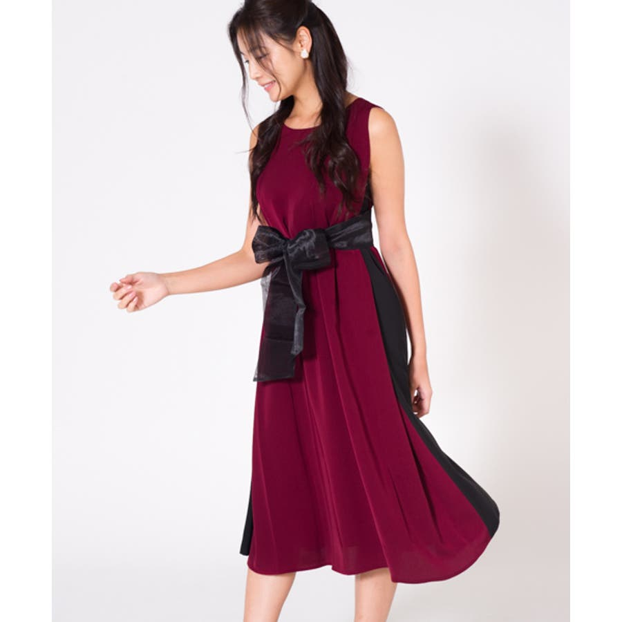 88537cb4f8abd セレクトブランド 配色Aラインワンピース ワンピース ドレス ...