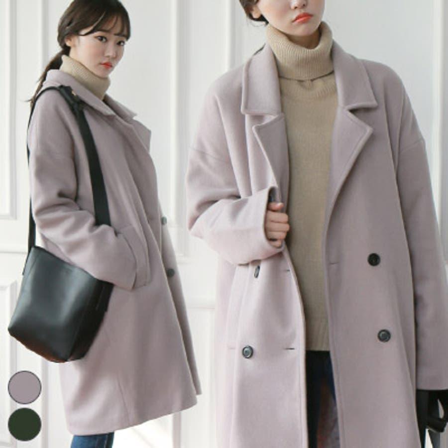 【GOGOSING】DAYSコート☆ひざ丈コート ロングコート ルーズフィット レディース シングルコート