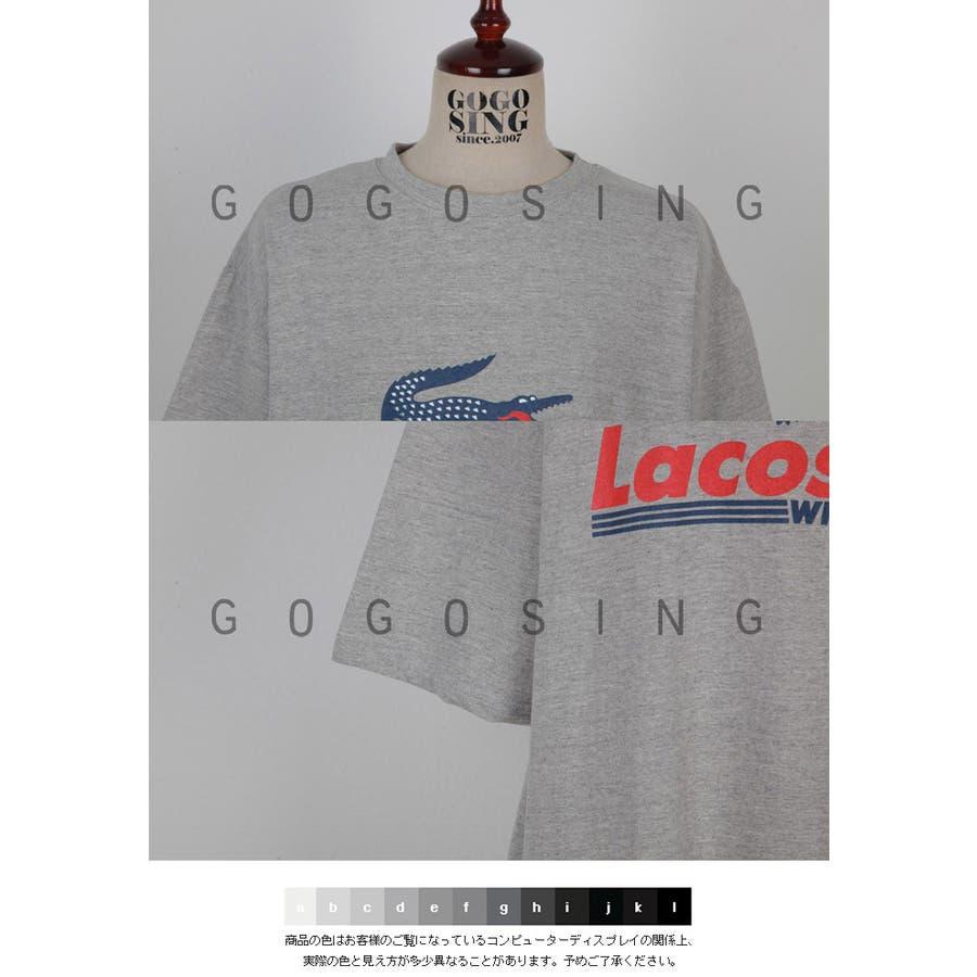 0afa4f12b71a 【GOGOSING】クロコダイル半袖Tシャツ☆レディーストップスレディースTシャツベーシックTシャツ