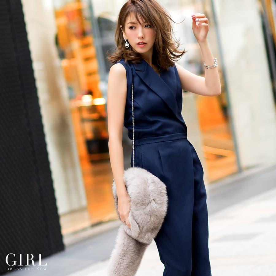 4c0ecec7fcd3f パーティードレス パンツドレス ワンピース ドレス お呼ばれ 大きいサイズ パーティドレス パンツスタイル パンツオールインワン二次会