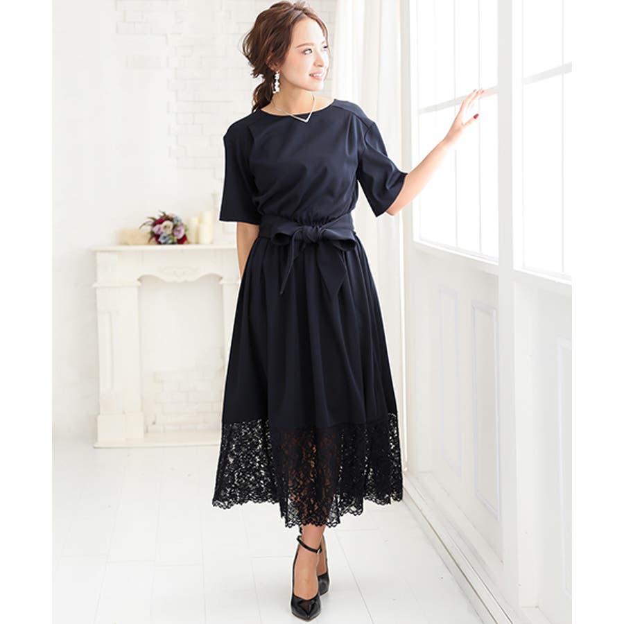 09f595703725c パーティードレス 結婚式 ワンピース ドレス お呼ばれ 大きいサイズ ...