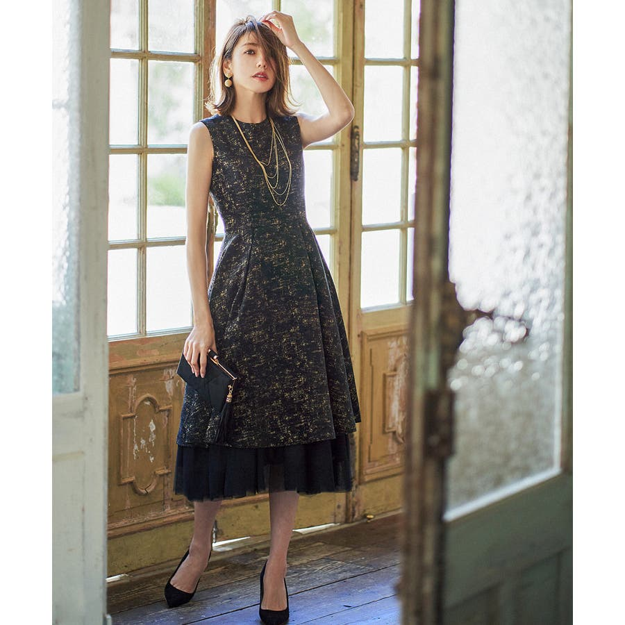 6aedc77d624ee ドレス ワンピース パーティードレス 大きいサイズ お呼ばれ 他と被ら ...