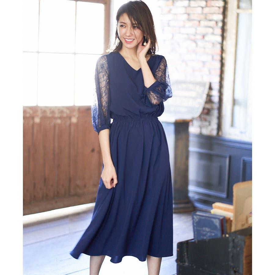 92b55b73788f7 ドレス ワンピース パーティードレス 大きいサイズ お呼ばれ 他と被ら ...