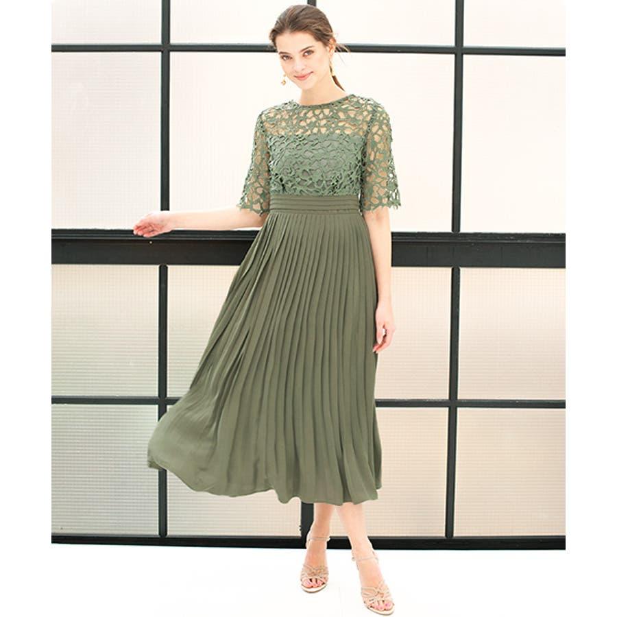 3c5870d150195 結婚式 ワンピース パーティードレス 大きいサイズ 袖あり ロング丈 ...