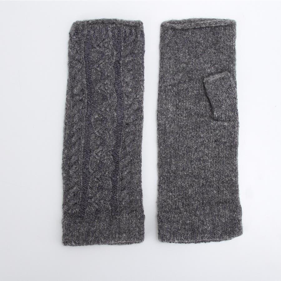 プレミアシュークリーム糸 高品質 日本製 ふわふわあったかフィット 裏側にシルク100%糸使用 レディースアームカバーゆったり長め 26