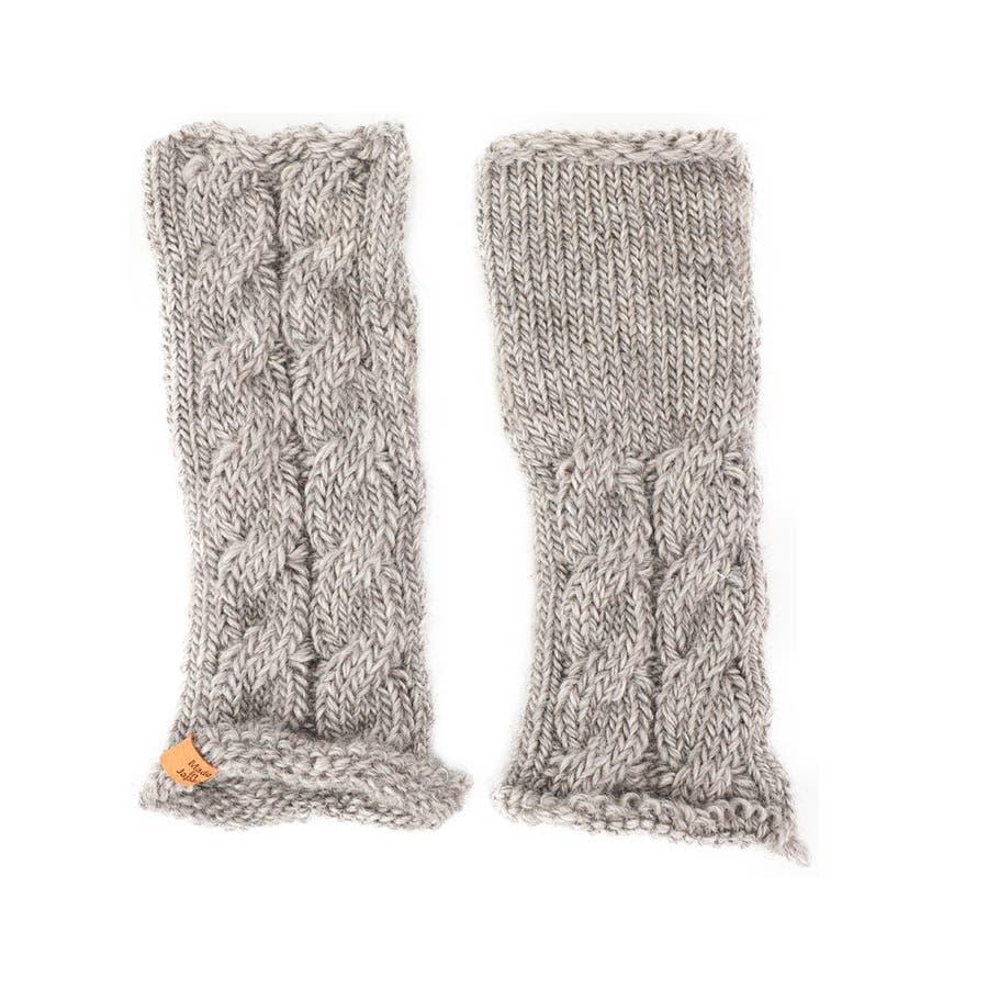 ウール100% てぶくろ屋さんが作ったウール100%もこもこ手編み風アームウォーマー 日本製 冷え取り ギフト プレゼント ひえとり 温活 あたたかい 手首 羊毛<アームカバー モコモコ あったか 手袋 暖かい ニット 誕生日プレゼント 女性 gift present ladies> 23