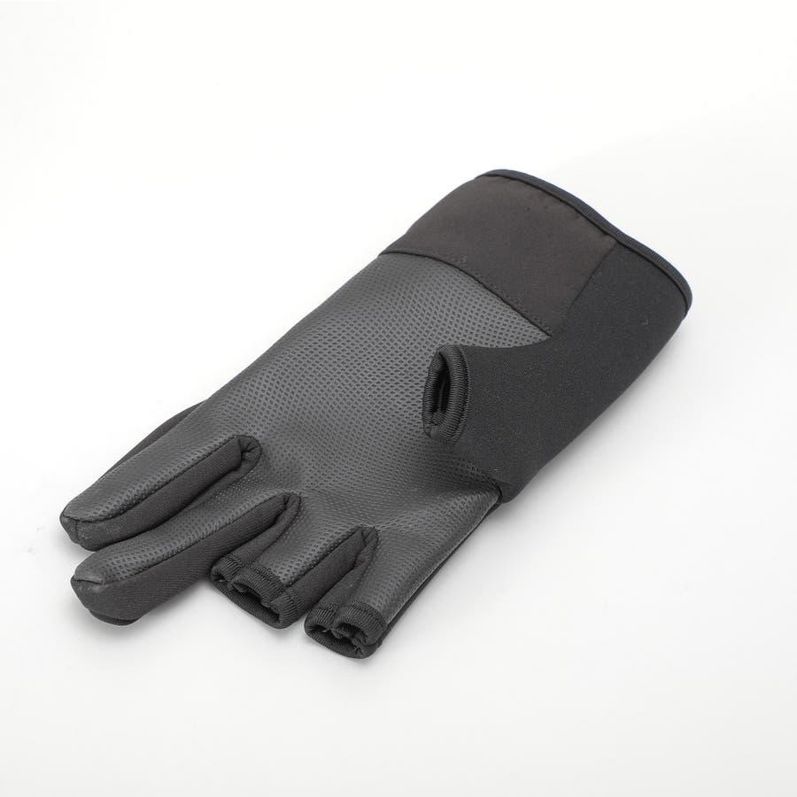 メンズ ウエットスーツ素材使用 防水性抜群!3本指出しタイプ 手のひら全面すべりどめ メンズアウトドアグローブ ATHLEISURE 5