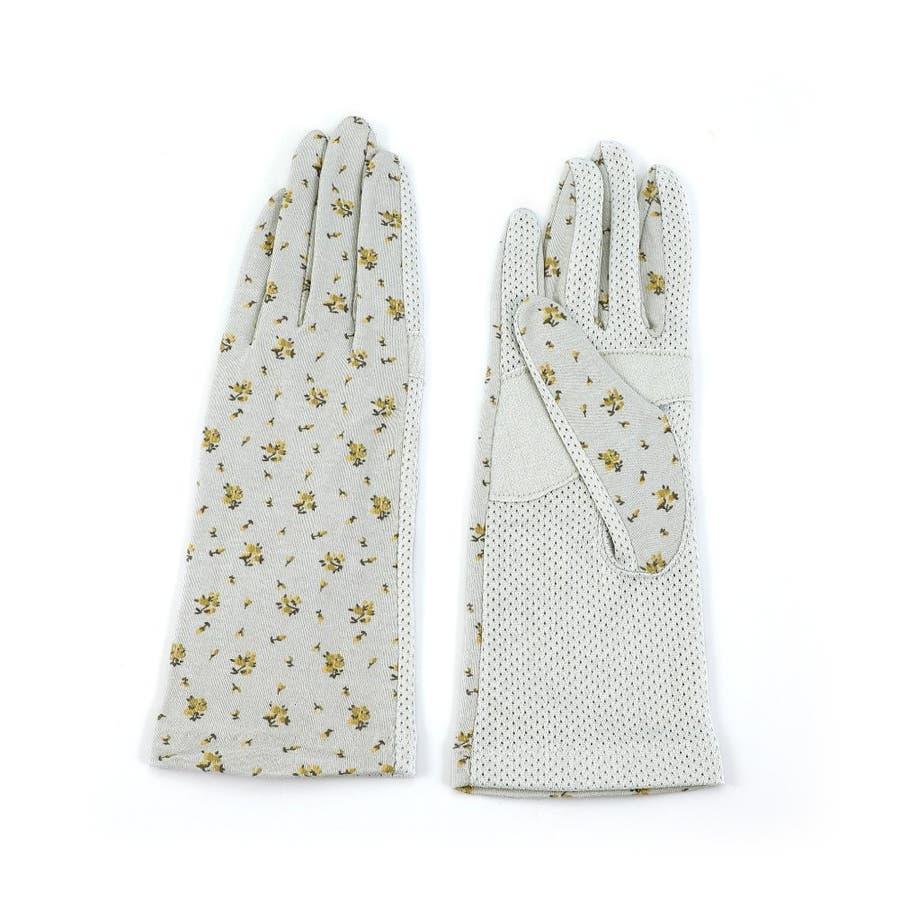 「すべり止め付き」ドライブ ガーデニングに最適 「清涼」花柄 UV手袋 ショートタイプ 全3色手のひらメッシュ<uvカット手袋ショート アームカバー UV手袋 指あり レディース 可愛い 手袋 夏用 日焼け対策 運転 紫外線対策グッズ 日焼け防止誕生日プレゼント ギフト> 23