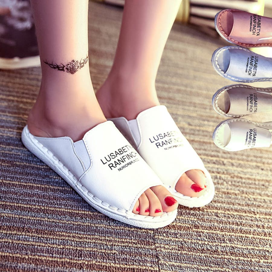 イメージぴったりでgood レディース サンダル 白 旅行 海 夏 靴 プール シューズ 大きいサイズ PUカジュアルサンダル 3249 罵倒