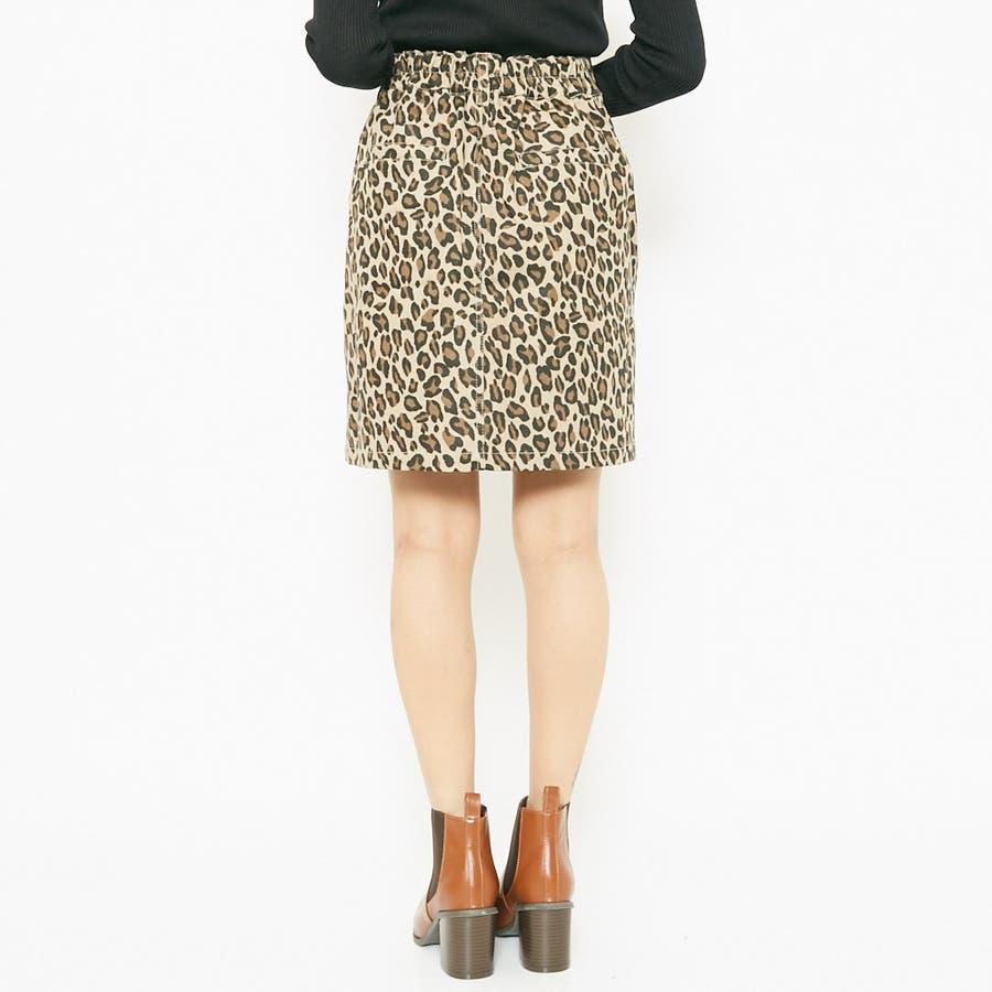 ヒョウ柄ツイルスカート 9