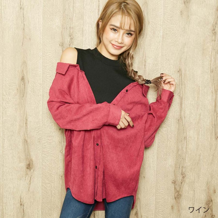 コーデュロイレイヤードシャツ 96