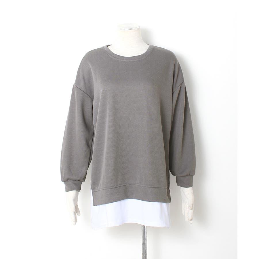 裾シャツレイヤード風 カットソー プルオーバー 7