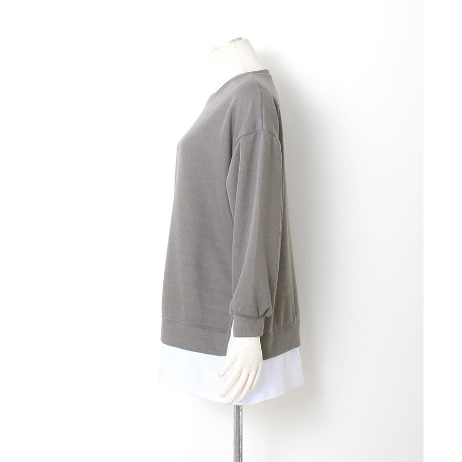 裾シャツレイヤード風 カットソー プルオーバー 8