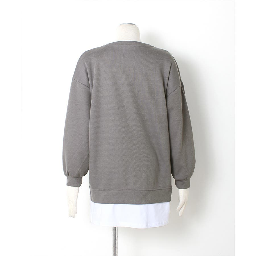 裾シャツレイヤード風 カットソー プルオーバー 9