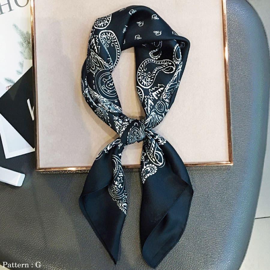 正方形 大判 スカーフ 9