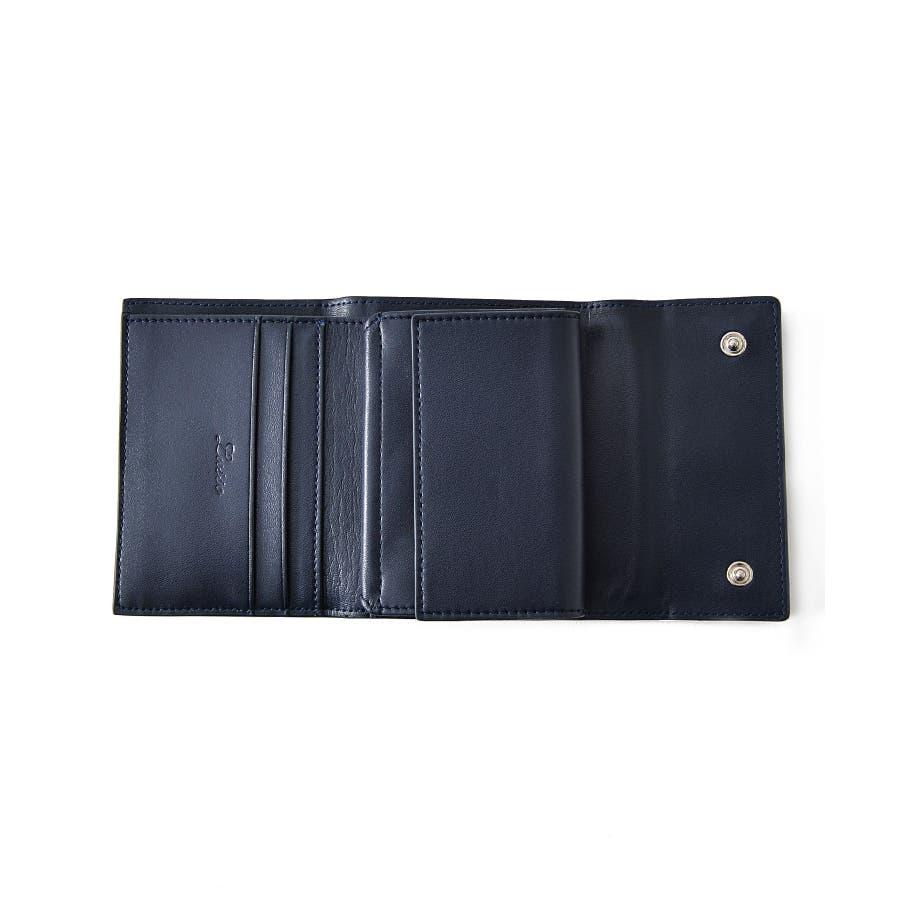 95b6c73fbae3 本革 三つ折り ミニ 財布 メンズ レディース 大容量 人気 薄い ...
