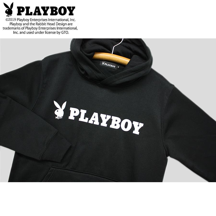 パーカー PLAYBOY BUNNY ロゴ ストリート 裏起毛 スウェット パーカー 大きいサイズ レディース  5
