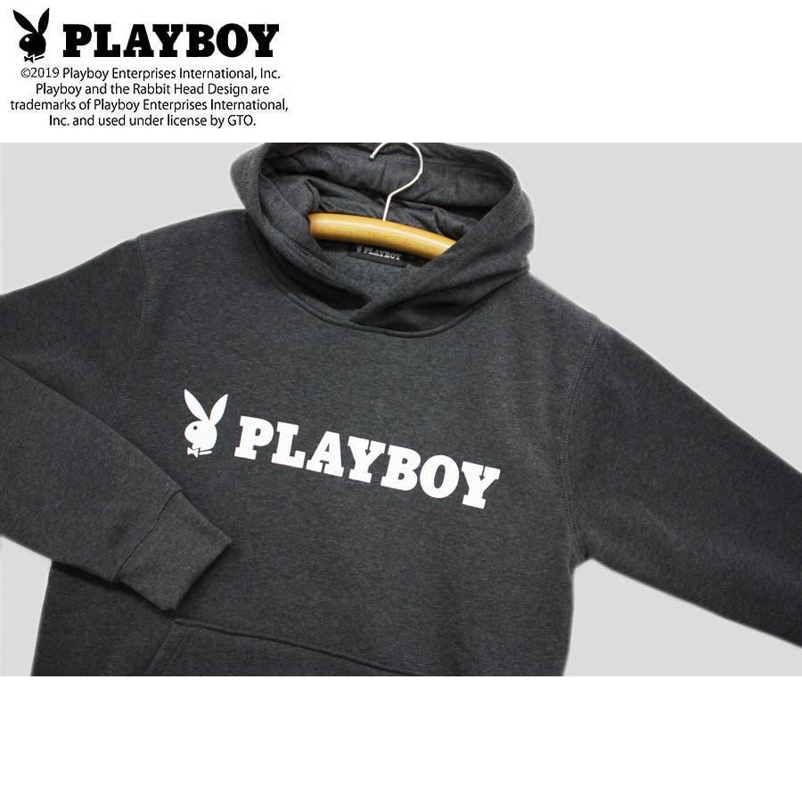 パーカー PLAYBOY BUNNY ロゴ ストリート 裏起毛 スウェット パーカー 大きいサイズ レディース  6