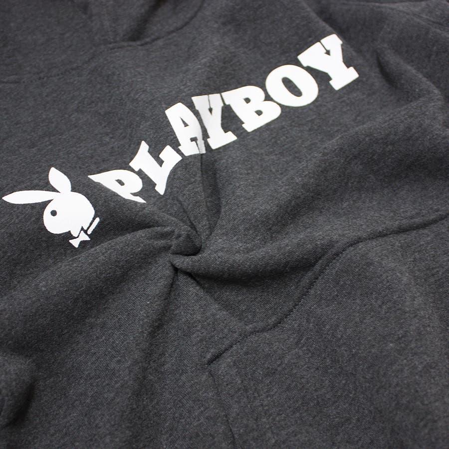 パーカー PLAYBOY BUNNY ロゴ ストリート 裏起毛 スウェット パーカー 大きいサイズ レディース  10