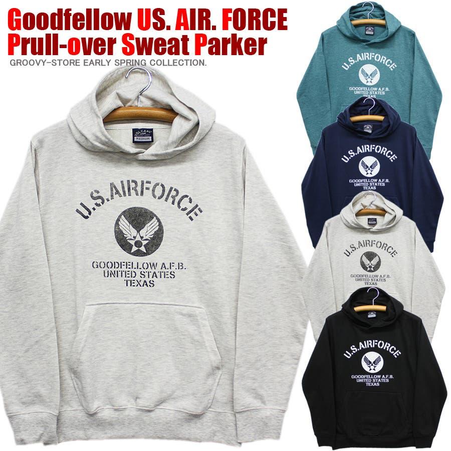 US. AIR. FORCE ミリタリー スウェット パーカー レディース OK 1