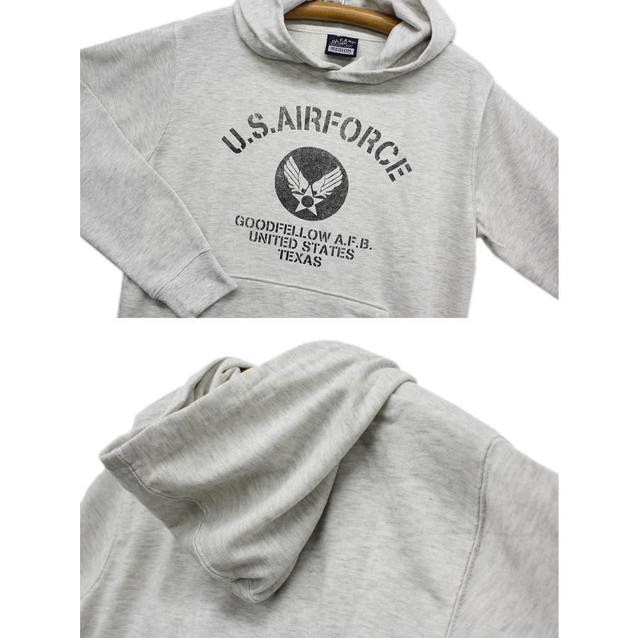 US. AIR. FORCE ミリタリー スウェット パーカー レディース OK 6