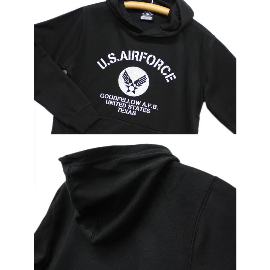 US. AIR. FORCE ミリタリー スウェット パーカー レディース OK 7