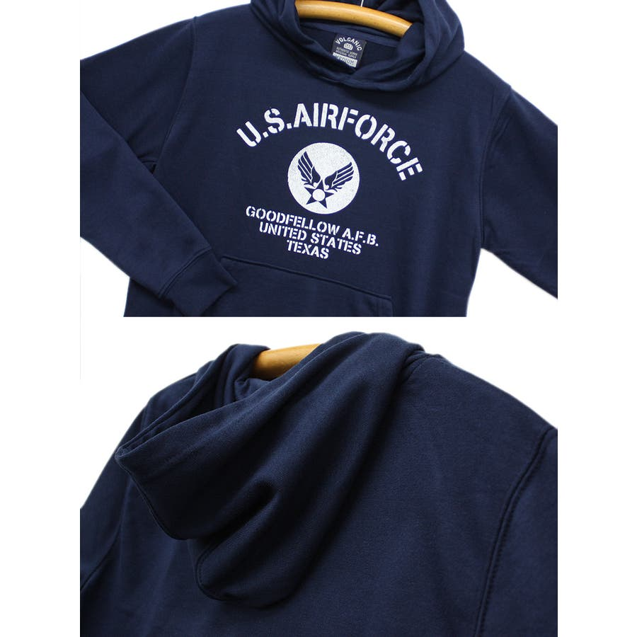US. AIR. FORCE ミリタリー スウェット パーカー レディース OK 8