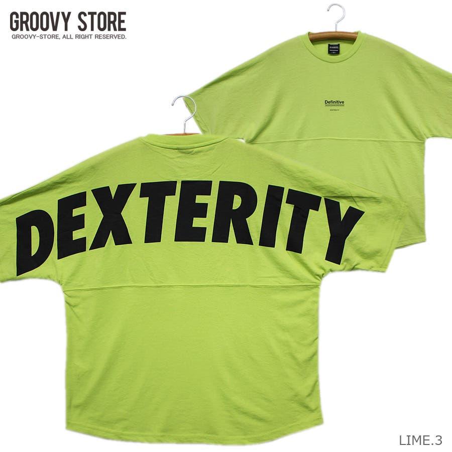 DEXTERITY ワイド ビッグ シルエット 切替 ストリート ドルマンスリーブ 半袖 Tシャツ レディース OK 56