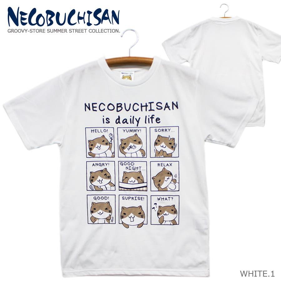 ねこぶちさん 猫渕さん デイリーウィンドー クルーネック 半袖 Tシャツ レディース OK 16