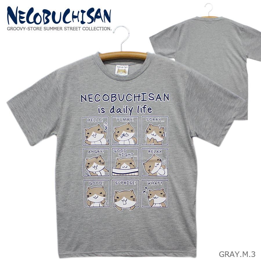 ねこぶちさん 猫渕さん デイリーウィンドー クルーネック 半袖 Tシャツ レディース OK 28