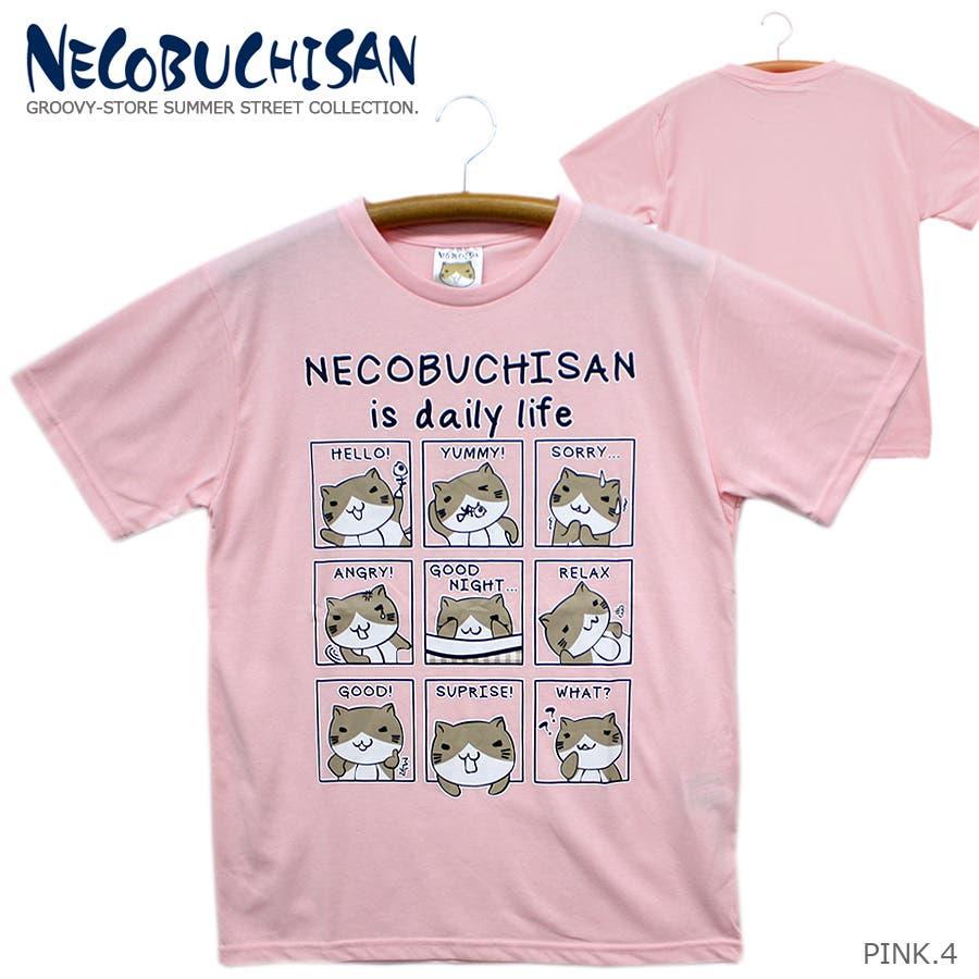 ねこぶちさん 猫渕さん デイリーウィンドー クルーネック 半袖 Tシャツ レディース OK 88