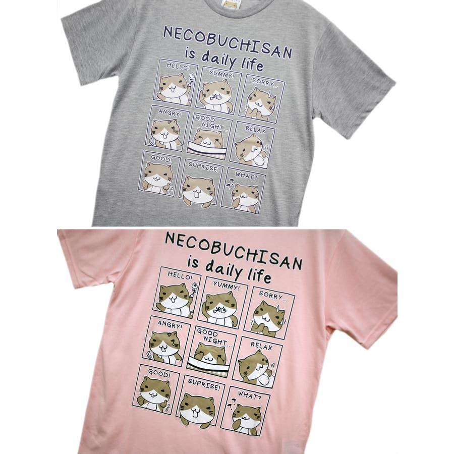 ねこぶちさん 猫渕さん デイリーウィンドー クルーネック 半袖 Tシャツ レディース OK 7