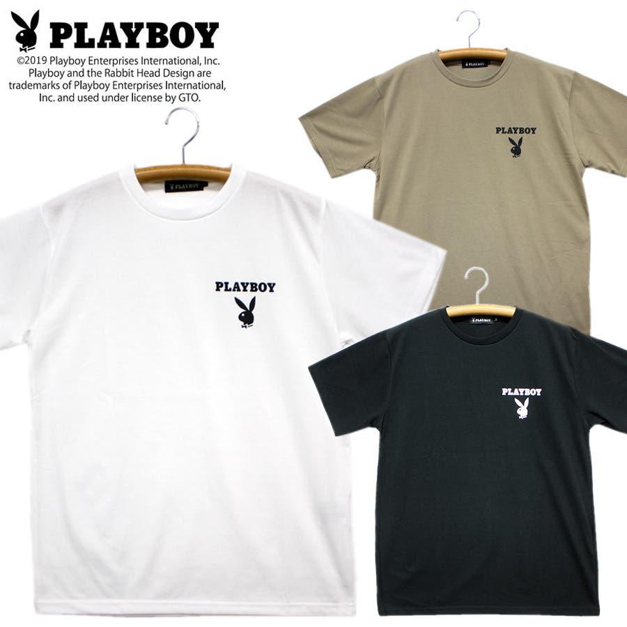 PLAYBOY ロゴ ストリート 天竺 クルーネック 半袖 Tシャツ レディース OK 1