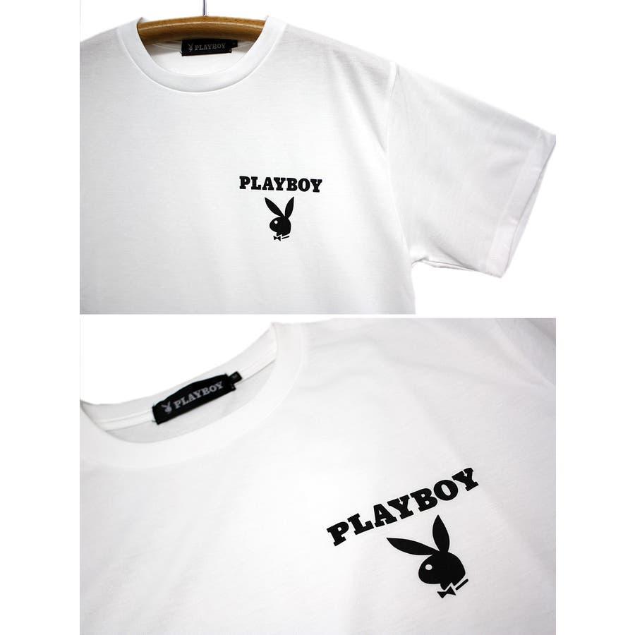 PLAYBOY ロゴ ストリート 天竺 クルーネック 半袖 Tシャツ レディース OK 5
