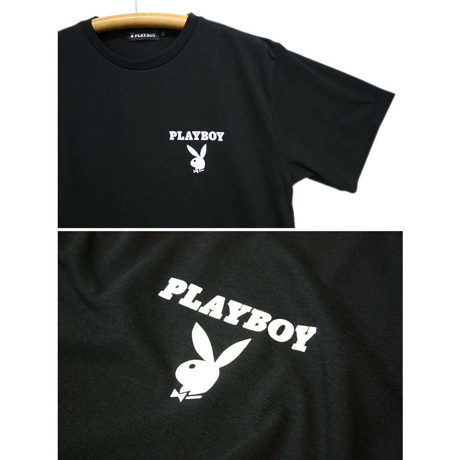 PLAYBOY ロゴ ストリート 天竺 クルーネック 半袖 Tシャツ レディース OK 6