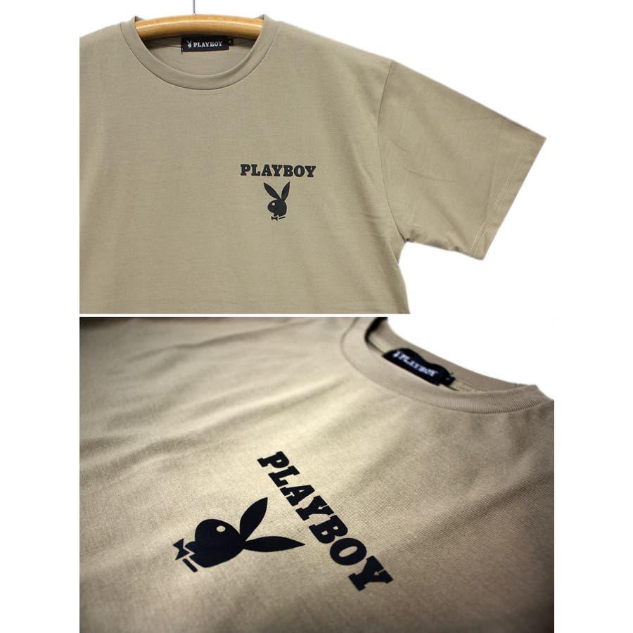 PLAYBOY ロゴ ストリート 天竺 クルーネック 半袖 Tシャツ レディース OK 7