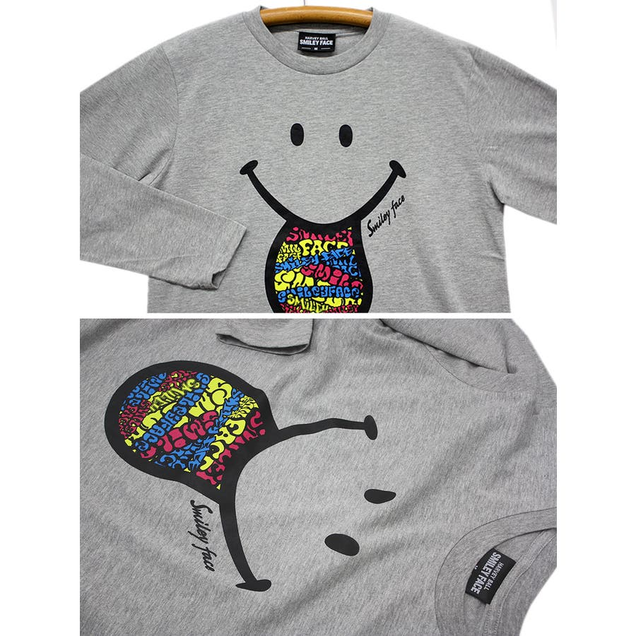 SMILEY FACE サイケデリック スマイル ロングスリーブ Tシャツ レディース OK 8
