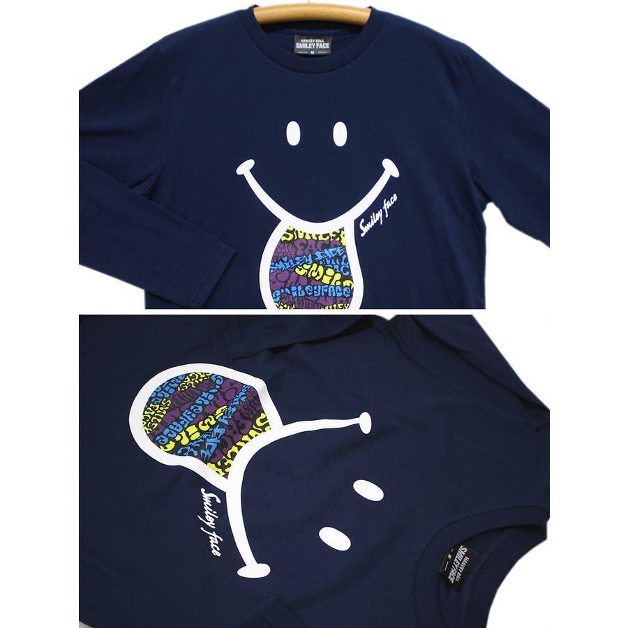 SMILEY FACE サイケデリック スマイル ロングスリーブ Tシャツ レディース OK 9