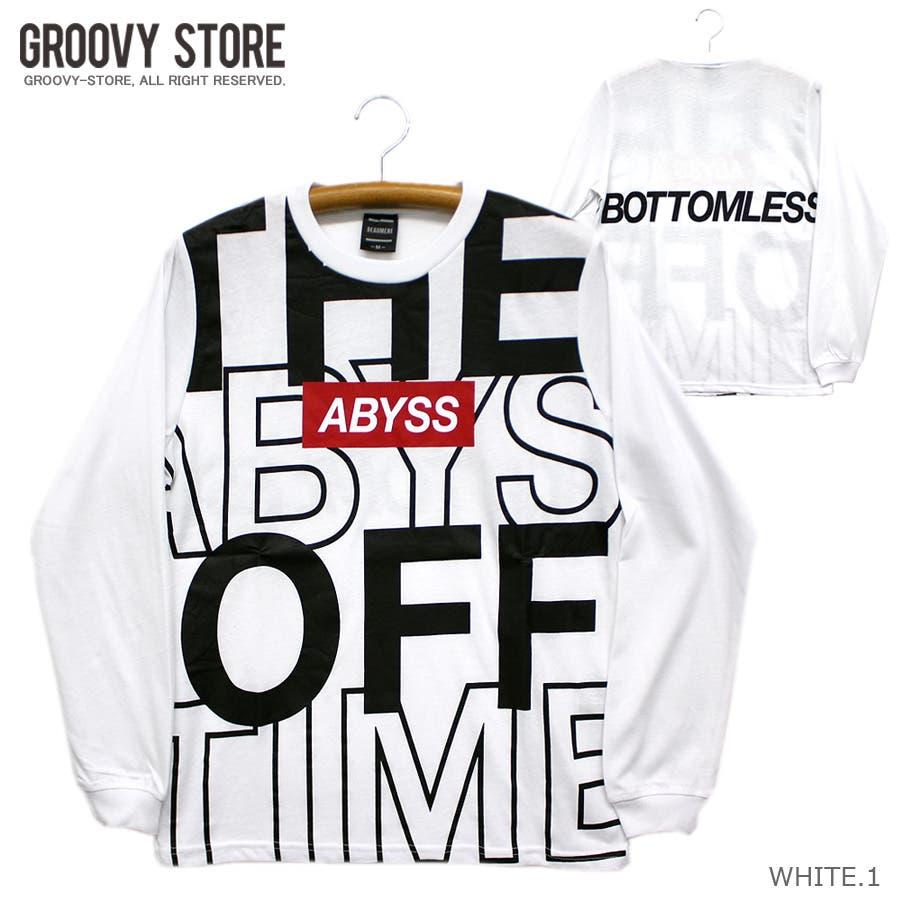 ABYSS ビッグロゴ ストリート ロングスリーブ Tシャツ ロンT レディース OK 16