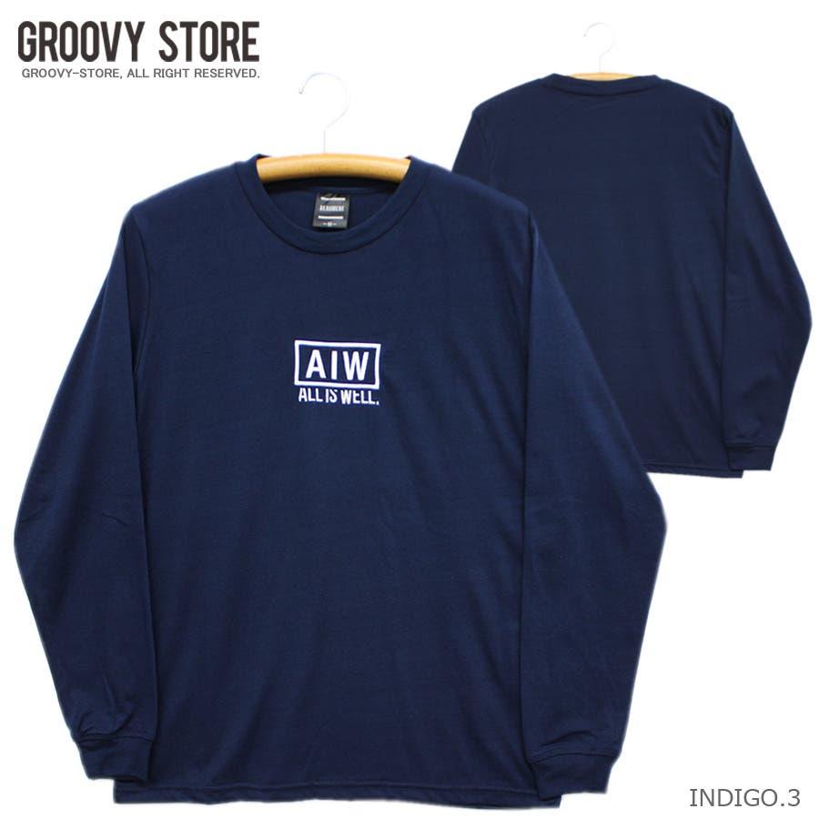 ALL IS WELL ボックス 刺繍ロゴ ストリート ロングスリーブ Tシャツ ロンT レディース OK 70