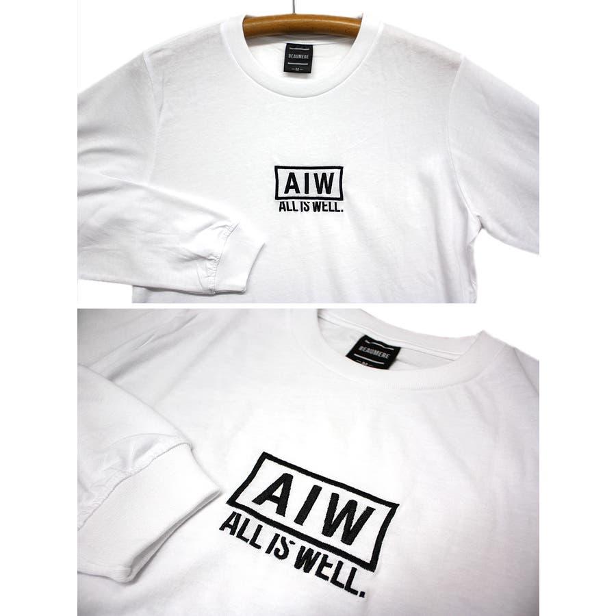 ALL IS WELL ボックス 刺繍ロゴ ストリート ロングスリーブ Tシャツ ロンT レディース OK 6