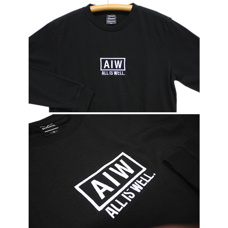 ALL IS WELL ボックス 刺繍ロゴ ストリート ロングスリーブ Tシャツ ロンT レディース OK 7